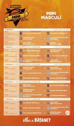 Calendari Campionat Balears Mini Masculi